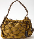 Luxury Accessories:Bags, Heritage Vintage: Bottega Veneta Gold Satin and Beaded Bag. ...