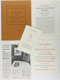 Books:Books about Books, [Arion Press]. Collection of Ephemera from Arion Press, including: Prospectuses for Wallace Stevens' Poems, ...