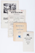 Memorabilia:Science Fiction, Science Fiction and Fantasy Price Lists (Various Publishers, 1947-51).... (Total: 13 Items)