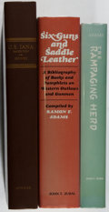 Books:Books about Books, [Books About Books]. Group of Three Books on Western AmericanaBibliography. Various, 1978-1982. Very good or better conditi...(Total: 3 Items)