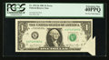Error Notes:Foldovers, Fr. 1911-K $1 1981 Federal Reserve Note. PCGS Extremely Fine40PPQ.. ...