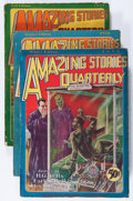 Pulps:Science Fiction, Amazing Stories Quarterly Group (Radio-Science Publications,1928-29) Condition: Average VG.... (Total: 5 Items)