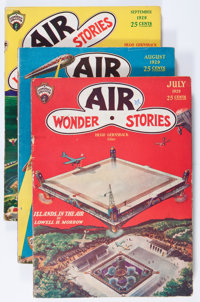 Air Wonder Stories Group of 11 (Stellar Publishing, 1929-30) Condition: Average VG.... (Total: 11 Items)