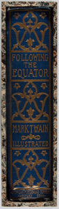 Books:Travels & Voyages, Mark Twain. Following the Equator. American Publishing,1897. First edition, first issue. Hinges cracked. Toning and...