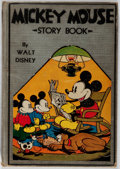 Books:Business & Economics, [Walt Disney]. Mickey Mouse Story Book. McKay, 1931. Firstedition, first printing. Hinges reinforced. Title page il...