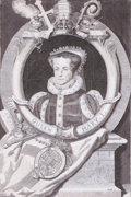Prints, QUEEN MARY I. 18th century. 11-1/2 x 7-1/2 inches (29.2 x19.1 cm). Engraving. Elton Hyder III Collection Formerly at ...