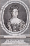 Prints, MARIA II. 18th century. 11-3/4 x 7-1/2 inches (29.8 x 19.1cm). Engraved by Parr. Elton Hyder III Collection Formerly...