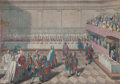 Prints, THE KNIGHTS AT DINNER, BATH, KING OF ARMS, PROCLAIMING PRINCEWILLIAM. 19th century. Engraving. 17 x 24 inch...