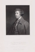 Prints, BURKE. 19th century. 9 x 6 inches (22.9 x 15.2 cm). Engravedby C.E. Wagstaff after a painting by Sir Joshua...