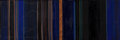 Fine Art - Painting, American, DAVID WILLIAM SIMPSON (American, b. 1928). Night Stripe #6 (twoparts), 1960. Oil on canvas. 14 x 9-1/2 inches (35.6 x ...
