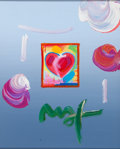 Paintings, PETER MAX (American, b. 1937). Pair: Heart Series, Ver. I #431 and #432, 2006. Acrylic and collage on paper. Sight: 10-... (Total: 4 Items)