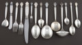 Silver Flatware, Continental:Flatware, A ONE HUNDRED TWENTY-NINE PIECE GEORG JENSEN SILVER ACANTHUSPATTERN FLATWARE SERVICE . Georg Jensen, Inc., Cop... (Total: 139Items)
