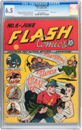 Golden Age (1938-1955):Superhero, Flash Comics #6 (DC, 1940) CGC FN+ 6.5 Off-white to white pages....