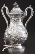 Silver Holloware, American:Hot Water Kettles , A KIRK SILVER HOT WATER URN . Samuel Kirk & Son, Baltimore,Maryland, circa 1861-1868. Marks: S. KIRK & SON., 11 OZ.. 1... (Total: 2 Items)