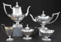 Silver Holloware, American:Tea Sets, A FIVE PIECE GORHAM SILVER PLYMOUTH PATTERN TEA AND COFFEESERVICE . Gorham Manufacturing Co., Providence, Rhode... (Total: 5Items)