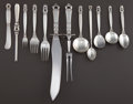 Silver Flatware, Continental:Flatware, A ONE HUNDRED FORTY PIECE GEORG JENSEN SILVER ACORN PATTERNFLATWARE SERVICE . Georg Jensen, Inc., Copenhagen, ... (Total: 129Items)