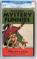 Golden Age (1938-1955):Science Fiction, Amazing Mystery Funnies V1#1 (Centaur, 1938) CGC FN 6.0 Cream tooff-white pages....
