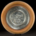 Silver & Vertu:Hollowware, A FRAMED ELKINGTON SILVERED COPPER ELECTROTYPE CHARGER AFTER LEONARD MOREL-LADEUIL (French, 1820 - 1888) . Elkington & Co.,...