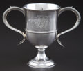 Silver Holloware, British:Holloware, A HESTER BATEMAN GEORGE III SILVER TWO-HANDLED CUP . Hester Bateman, London, England, circa 1788-1789. Marks: (lion passant)...