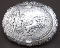 Silver Holloware, Continental, A HANAU SILVER AND SILVER GILT BOX . Maker unknown, Hanau, Germany,circa 1900. Imported by Cornelius Saunders & Francis She...