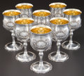 Silver Holloware, American:Cups, EIGHT REED & BARTON SILVER AND SILVER GILT FRANCIS IPATTERN WATER GOBLETS . Reed & Barton, Taunton, Massachuse...(Total: 8 Items)