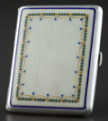 Silver Smalls:Other , A GERMAN SILVER, SILVER GILT AND ENAMEL CIGARETTE CASE . Makerunknown, Germany, circa 1900. Marks: (crescent moon-crown), ...