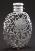 Silver Holloware, American:Flasks, A WHITING SILVER MOUNTED GLASS FLASK . Whiting ManufacturingCompany, New York, New York, circa 1900. Marks: (W with griffin...