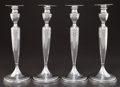 Silver Holloware, American:Candle Sticks, A SET OF FOUR GRAFF, WASHBOURNE & DUNN SILVER CANDLESTICKS . Graff, Washbourne & Dunn, New York, New York, circa 1910. Marks... (Total: 4 Items)