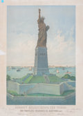 Prints, LIBERTY ENLIGHTENING THE WORLD. 1883. An early depiction ofthe Statue of Liberty for the Travelers Insurance Company. 3...
