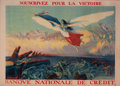 Prints, SOUSCRIVEZ POUR LA VICTOIRE BANQVE NATIONALE DE CREDIT.French School 20th Century, 1916. Color lithograph. ...