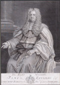 Prints, THE RIGHT HONORABLE JAMES REYNOLDS . 18th century.Engraving. 14-1/4 x 10 inches (36.2 x 25.4 cm). Engra...