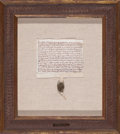 General Americana, LEGAL DOCUMENT WITH SEAL. 19th century. Manuscript. 9 x 7 inches(22.9 x 17.8 cm). Elton Hyder III Collection Formerly at ...