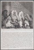 Prints, THE BENCH 'OF THE DIFFERENT MEANING OF THE WORDS,CHARACTER'. 18th century. Engraving. 11-3/4 x 8 inches (29.8x...