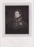Prints, HIS MOST GRACIOUS MAJESTY GEORGE IV . 18th century .Engraving. 14 x 10 inches (35.6 x 25.4 cm). Engrave...