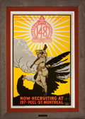 Prints, NOW RECRUITING AT 197 PEEL ST: MONTREAL. J.J. Gibbons, 20thcentury. Color lithograph. 42-1/2 x 28 inches (1...