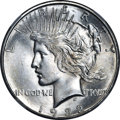 Peace Dollars, 1922-S $1 MS64+ NGC. CAC. NGC Census: (1735/261). PCGS Population(1717/282). Mintage: 17,475,000. Numismedia Wsl. Price f...