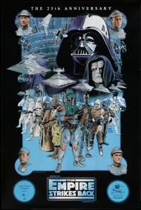"""The Empire Strikes Back (20th Century Fox, 1980). 25th Anniversary Villain Style Signed Poster (24"""" X 36""""). Sc..."""