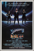 "Movie Posters:Action, Superman II (Warner Brothers, 1981). Autographed One Sheet (27"" X41"") Advance. Action.. ..."