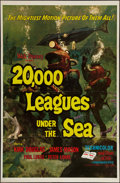"Movie Posters:Science Fiction, 20,000 Leagues Under the Sea (Buena Vista, R-1971). One Sheet (27""X 41""). Science Fiction.. ..."
