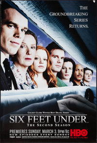 """Six Feet Under (HBO, 2nd Season, 2002). Television One Sheet (27"""" X 40""""). Miscellaneous"""