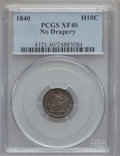 Seated Half Dimes: , 1840 H10C No Drapery XF40 PCGS. PCGS Population (11/245). NGCCensus: (2/245). Mintage: 1,000,000. Numismedia Wsl. Price fo...