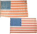 Miscellaneous:Ephemera, Flags: 38 and 46-Star Flags....