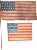 Political:Textile Display (pre-1896), Flags: 38-Star and 44-Star....