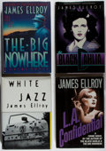 Books:Mystery & Detective Fiction, James Ellroy. Group of Four Signed or Inscribed First Editions.Various, 1987-1992. Near fine or better condition.... (Total: 4Items)