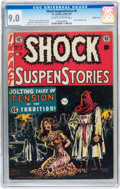 Golden Age (1938-1955):Horror, Shock SuspenStories #6 Double Cover (EC, 1952) CGC VF/NM 9.0 Creamto off-white pages....