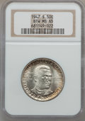 Commemorative Silver: , 1947-S 50C Booker T. Washington MS65 NGC. NGC Census: (328/224).PCGS Population (565/240). Mintage: 100,000. Numismedia Ws...