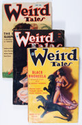 Pulps:Horror, Weird Tales Group (Popular Fiction, 1934-37) Condition: Average GD/VG.... (Total: 10 Items)