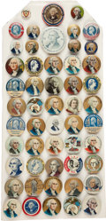 Political:Pinback Buttons (1896-present), George Washington: Fifty-two Celluloid Buttons....