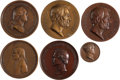 Political:Tokens & Medals, Franklin Pierce: Indian Peace Medal and Other Historical Medals.... (Total: 6 Items)