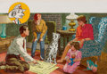 Mainstream Illustration, ALWIN SCHMIDT (American, 20th Century). NFPA- Sparky: The HomeEscape Plan. Gouache and tempera on board. 9.5 x 14.25 in...